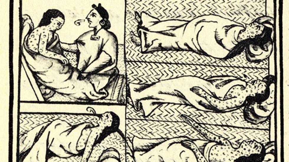 COVID-19 y viruela comparten afectaciones a 500 años de distancia - Códice florentino sobre brote de viruela a indígenas.  Foto de Wikimedia Commons