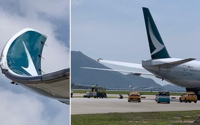 Colisión de aviones en aeropuerto de Hong Kong provoca daños - Colisión A350 777 Hong Kong Aeropuerto