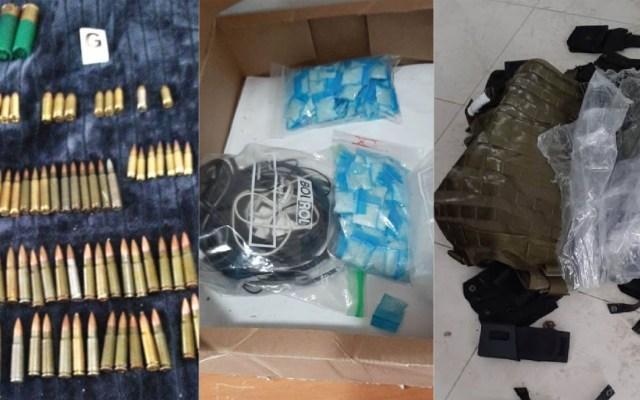 Decomisan en finca de Zapopan armas, cartuchos y droga - Decomiso de armas y droga en finca de Zapopan. Foto de @FiscaliaJal