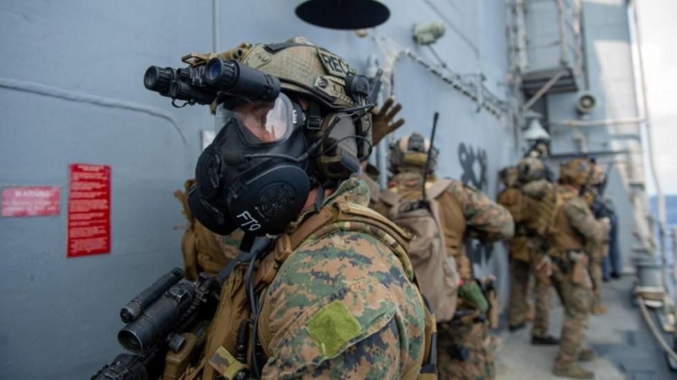 Estados Unidos manda barcos militares cerca de Venezuela en operativo antidrogas - Estados Unidos marines Ejército barco