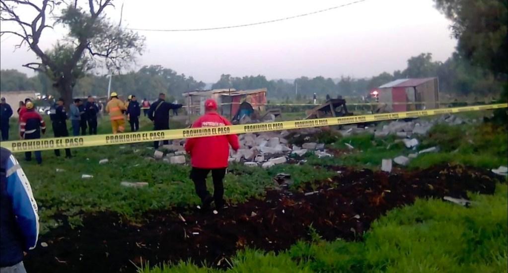 Explosión de polvorín en Tultepec deja un muerto - El estallido se suscitó a las 7:15 h de este sábado y como consecuencia del mismo, murió al instante un hombre de 42 años de edad