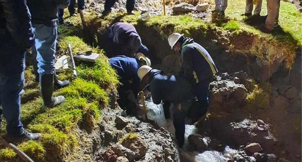 Conagua concluye reparación de fuga en el Sistema Cutzamala - A las 3:00 h de este miércoles, concluyó la reparación de la fuga en la línea 2 del Sistema Cutzamala, misma que afectó a 2.5 millones de personas