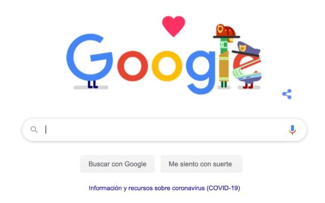 Google hace homenaje a trabajadores de servicios de emergencia - Foto de Google