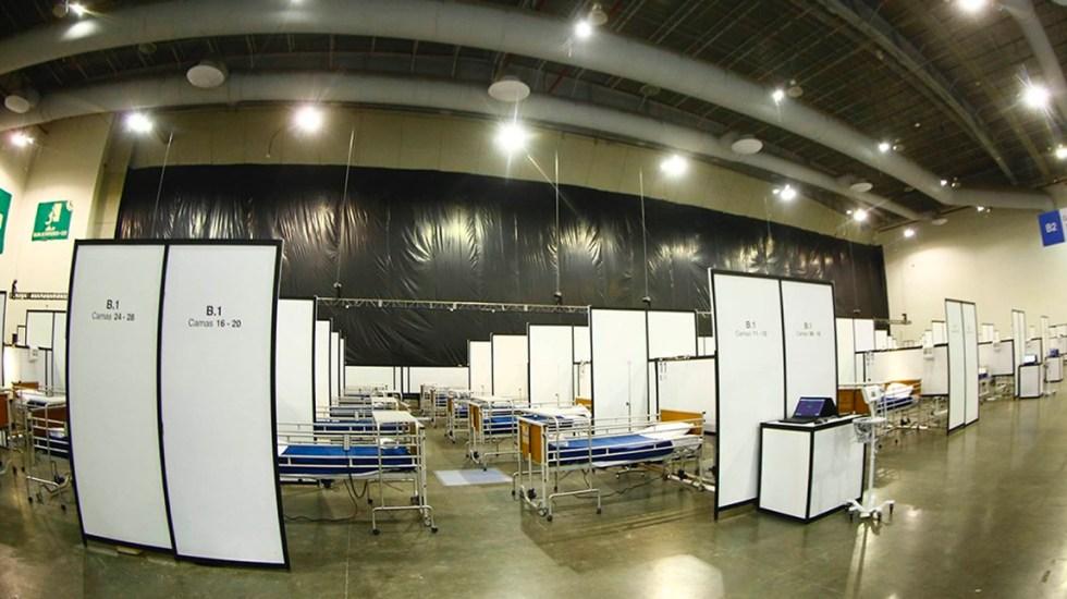No hay que temer por falta de camas para pacientes de COVID-19: AMLO - La Unidad Temporal COVID-19, un hospital de referencia que recibirá solo a pacientes enviados de centros de salud,contará con 240 camas pero con capacidad de hasta 840