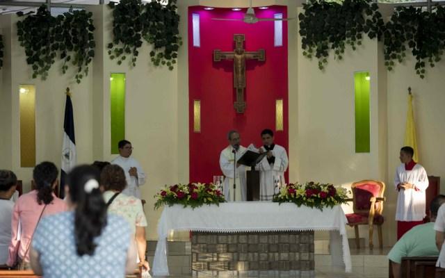 Iglesia Católica en Nicaragua celebra Jueves Santo con tradiciones rotas - Iglesia de Managua, Nicaragua, durante el Jueves Santo. Foto de EFE