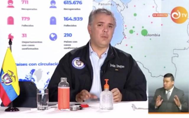 Iván Duque confirma que mantendrán suspendidos vuelos internacionales en Colombia - Captura de pantalla