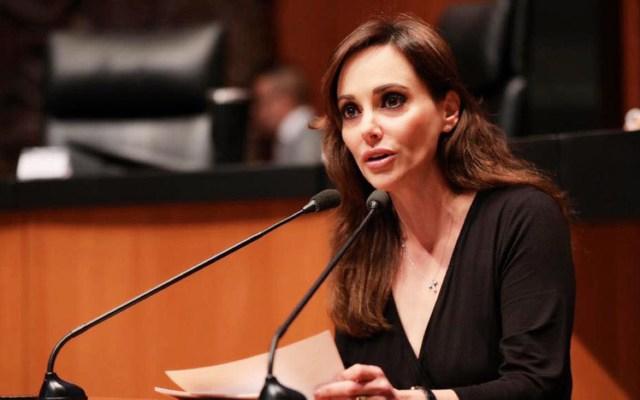"""Lilly Téllez deja la bancada de Morena """"por diferencias de criterio"""" - La senadora Lily Téllez en el Pleno del Senado de la República.Foto de Facebook."""