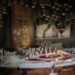 La Basílica de Guadalupe de México suspenderá los actos del Día de la Virgen - Misa oficiada por el arzobispo Carlos Aguiar Retes en la Basílica de Guadalupe. Foto de Notimex-Romina Solis.