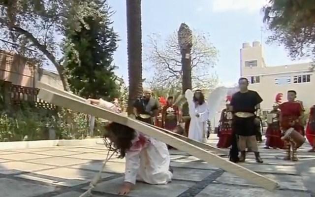 #EnVivo Representación de La Pasión de Cristo en Iztapalapa - Captura de pantalla