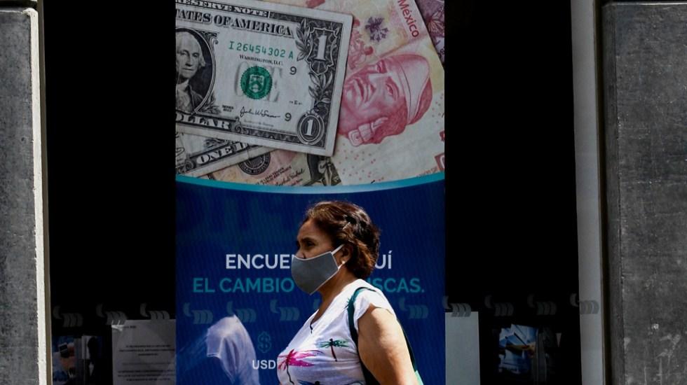 Peso mexicano se cotiza hasta en 20.44 por dólar en su semana más volátil desde 2017 - Foto de Notimex