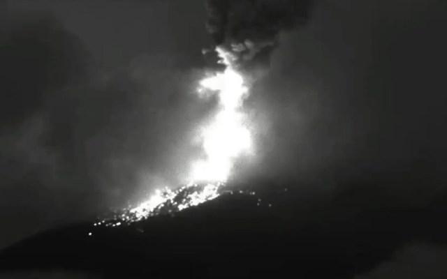 Volcán Popocatépetl registra explosión con expulsión de ceniza - Popocatépetl