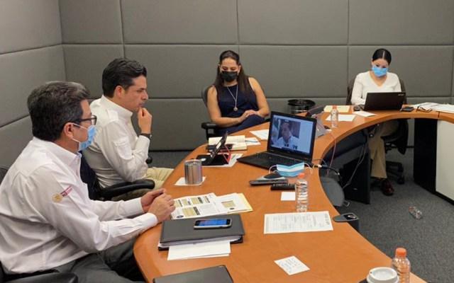 Zoé Robledo supervisa manejo del COVID-19 con gobernadores - Zoé Robledo en videoconferencia con gobernadores. Foto de @zoerobledo