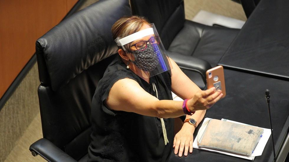 Explica la senadora Malú Micher descuido durante reunión virtual - Martha Lucía Mícher Camarena
