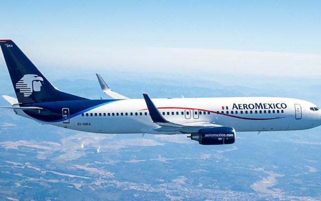 Aeroméxico rompe récord con nuevo vuelo de Hong Kong en medio de la crisis - Avión de Aeroméxico. Foto de @Aeromexico