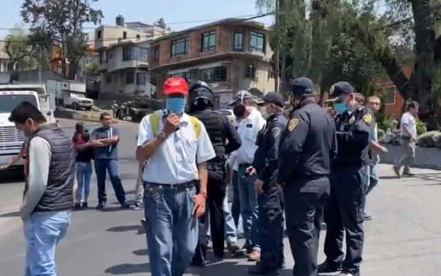 Se restablece circulación en carretera México-Cuernavaca tras manifestación - Bloqueo México Cuernavaca vecinos Tlalpan