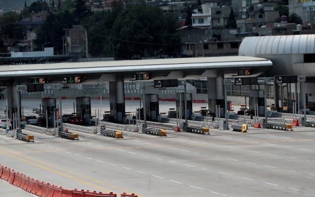 Vinculan a proceso a 57 personas por toma de casetas en Morelos - Foto de una caseta. Foto de Notimex