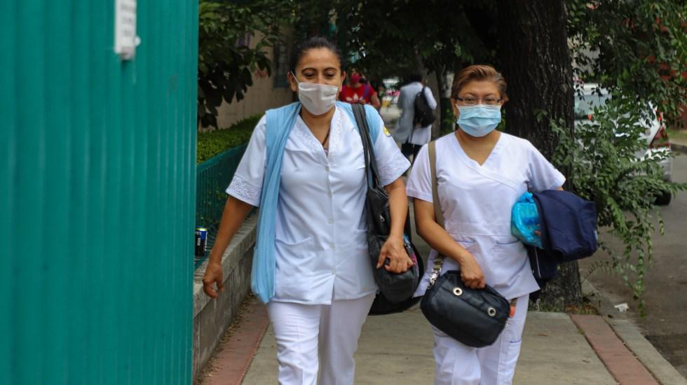 IMSS nominará a trabajadores de la salud a condecoración Miguel Hidalgo - Enfermeras que atienden a pacientes con COVID-19 en la Ciudad de México. Foto de Notimex