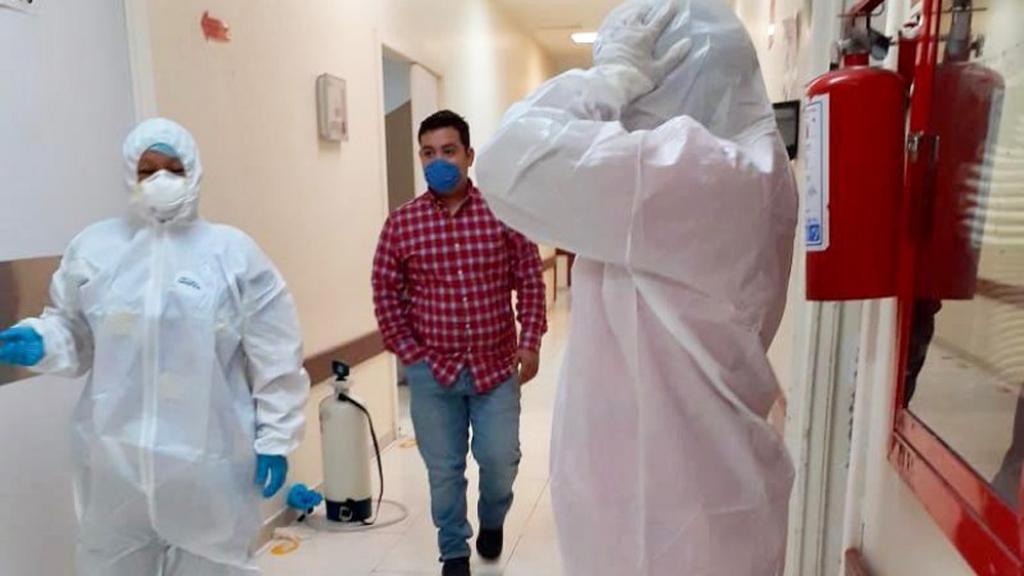 Coahuila llega a 534 casos de COVID-19 y 49 decesos - Hospital que atiende a pacientes con COVID-19 en Coahuila. Foto de Meganoticias
