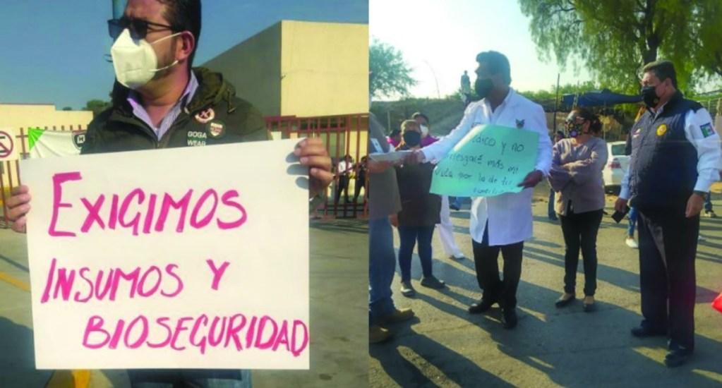 Personal médico en Tula exige mayor seguridad e insumos - Hospital Tula seguridad protesta médicos insumos
