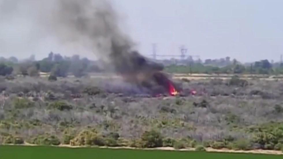 #Video Sujetos ingresan ilegalmente a EE.UU. y provocan incendio en reserva cucapá - Captura de pantalla