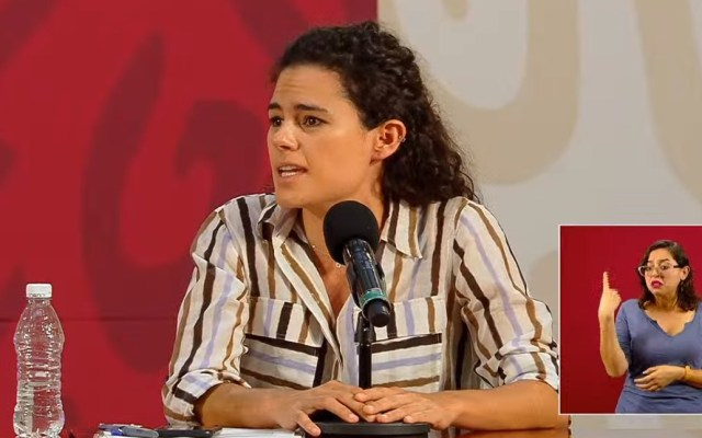 Que presenten las denuncias que se consideren; Luisa María Alcalde rechaza nepotismo - Luisa María Alcalde, titular de la STyPS. Captura de pantalla