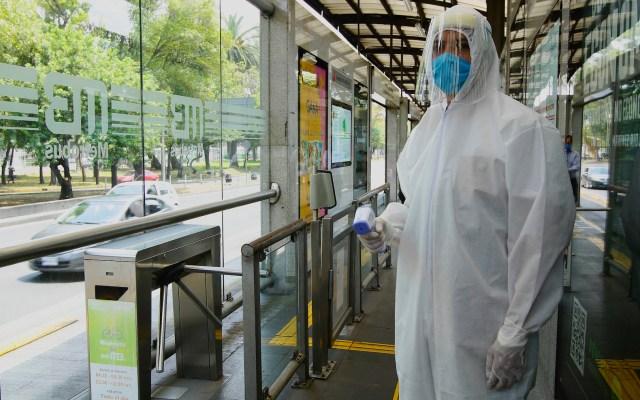 A partir de este lunes habrá dosificación de usuarios en el Metrobús - Foto de Notimex
