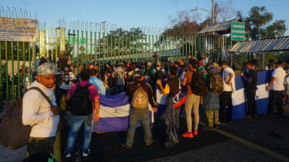 Migraciones climáticas afectarán especialmente a América Latina - Migrantes centroamericanos en la frontera sur de México. Foto de EFE