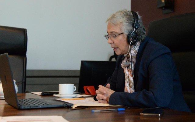 Sánchez Cordero llama a eliminar criminalización de mujeres por aborto - Foto de Twitter Secretaría de Gobernación