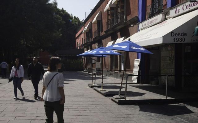 Pedirán restauranteros ayuda al Gobierno Federal por cierres en CDMX y Edomex ante COVID-19 - Pocos son los restaurantes aún abiertos en Coyocán ante la pandemia de COVID-19. Foto de Notimex