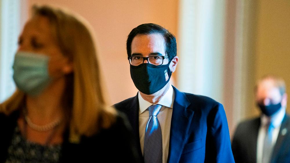 """Secretario del Tesoro advierte """"daño permanente"""" si no se reabre en EE.UU. - Steve Mnuchin, secretario del tesoro de EE.UU. Foto de EFE"""