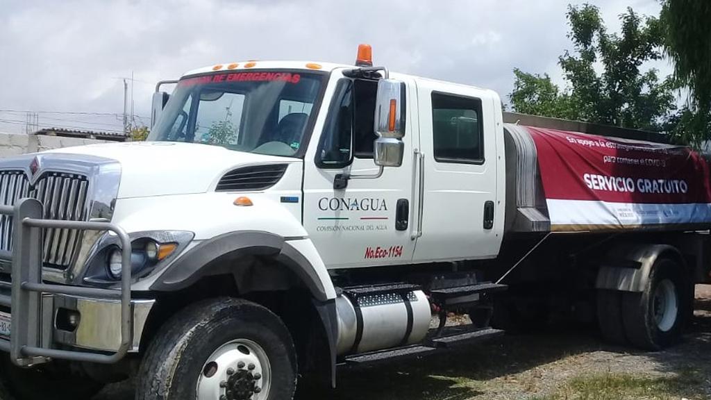 Conagua fortalece suministro de agua a hospitales y comunidades vulnerables - Suministro de agua potable por parte de la Conagua. Foto de @bjc_agua