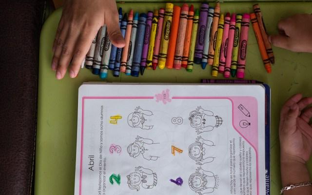 INE cede tiempos oficiales en radio y televisión para contenidos educativos - Tarea escolar. Foto de Notimex