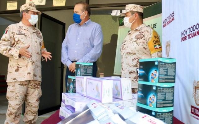 Tijuana entrega insumos médicos a hospital militar que atenderá COVID-19 - Tijuana hospital militar COVID-19 insumos médicos