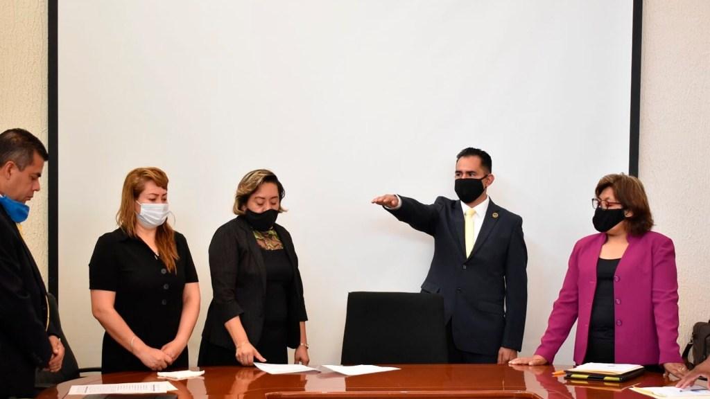 Marco Antonio Cruz rinde protesta como alcalde sustituto de Tultepec - toma de protesta alcalde tultepec