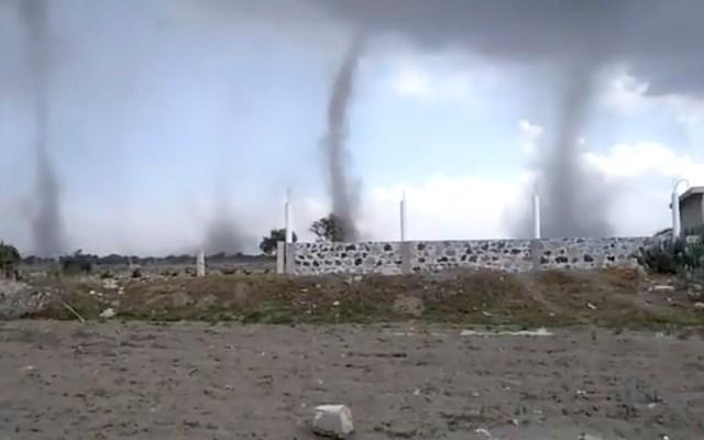 #Video Captan cuatro tornados en San Nicolás Buenos Aires, Puebla - tornados