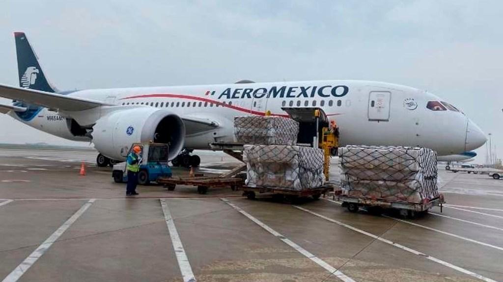 En camino a México decimocuarto vuelo de Aeroméxico desde Shanghái con insumos médicos - vuelo 14 china insumos coronavirus COVID-19