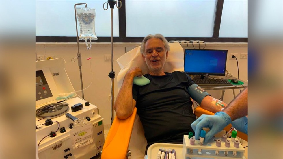 Andrea Bocelli dona su plasma para la investigación, tras padecer coronavirus - Foto de EFE.