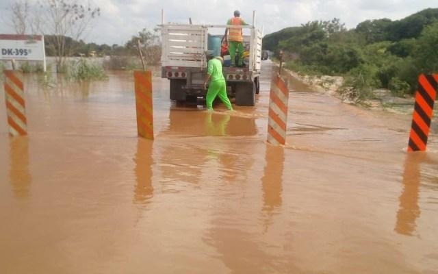 Reabren circulación en carretera Villahermosa-Escárcega tras paso de Cristóbal - Foto de SCT