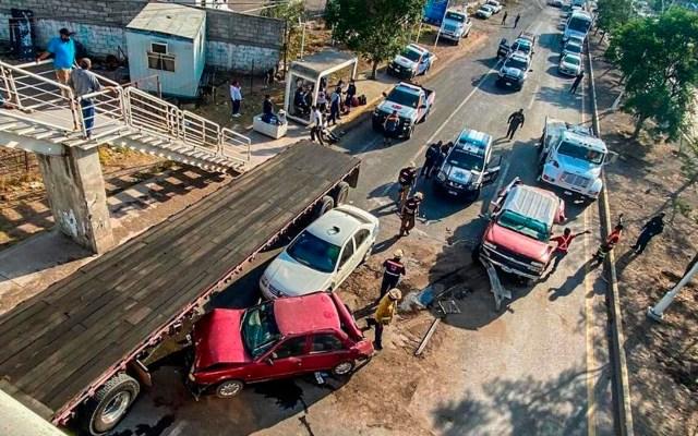 Choque en Querétaro deja al menos 13 lesionados - accidente choque Querétaro