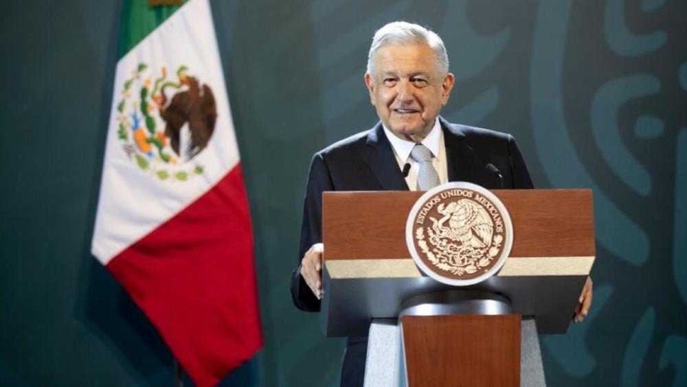 """""""Está muy pesimista, yo estoy optimista"""": AMLO sobre pronóstico del FMI de PIB mexicano - Foto de @rosaicela_"""