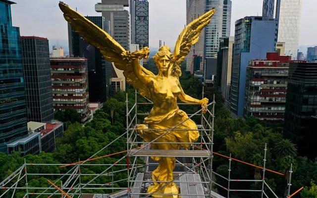 Restauración del Ángel de la Independencia terminaría en agosto - Ángel de la Independencia México Ciudad restauración
