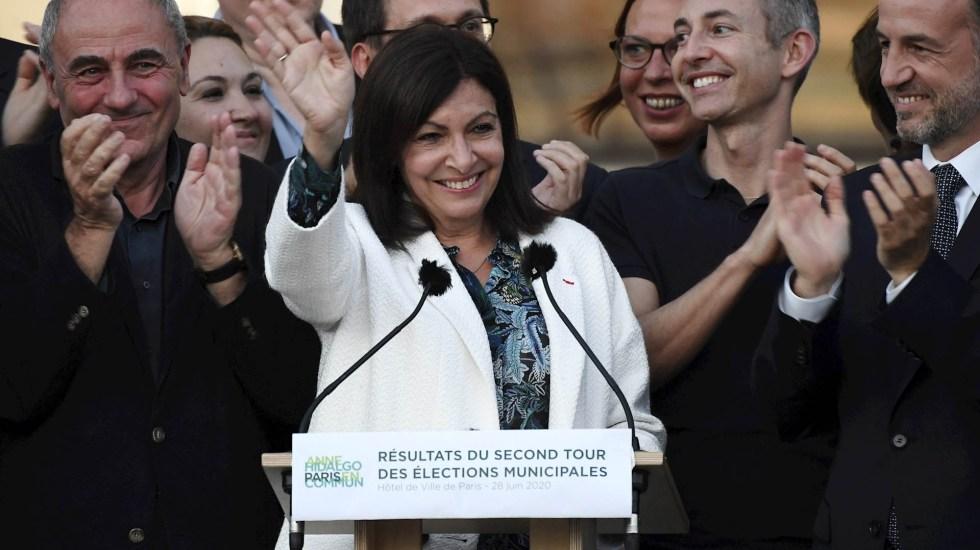 Anne Hidalgo se impone en elecciones en París y revalida su cargo como alcaldesa - Anne Hidalgo París Francia