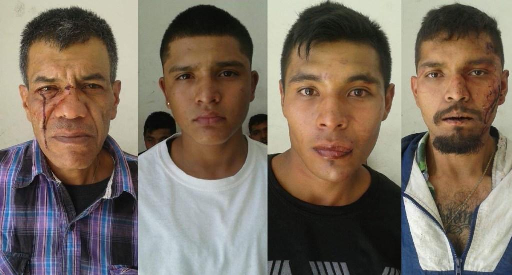 Vecinos golpean a presuntos delincuentes en Salamanca - Asaltantes delincuentes detenidos Salamanca GTO