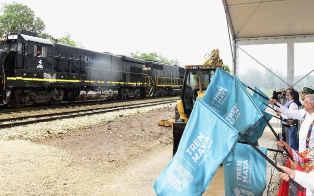 Alertan fragilidad del suelo ante construcción del Tren Maya - Banderazo de salida al tramo 3 Calkiní – Izamal del Tren Maya. Foto de lopezobrador.org.mx