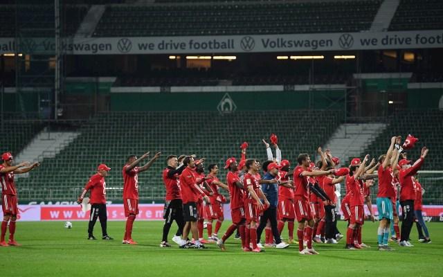 Bayern celebra su octavo título consecutivo de Bundesliga ante gradas vacías - Bremen Bayern Munich Bundesliga