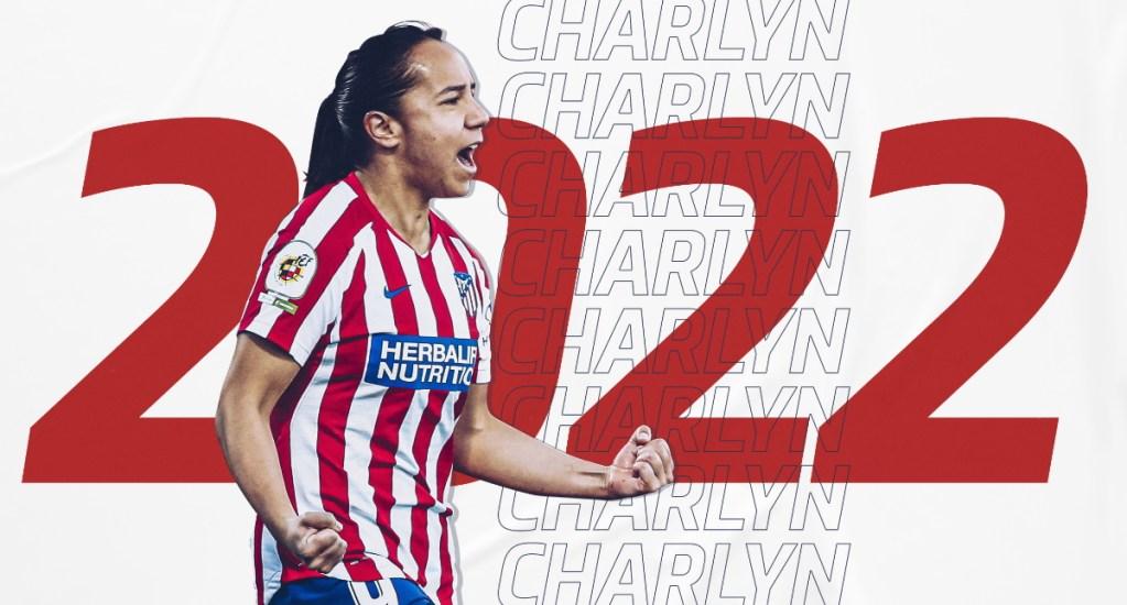 Charlyn Corral renueva contrato con el Atlético de Madrid - Charlyn Corral