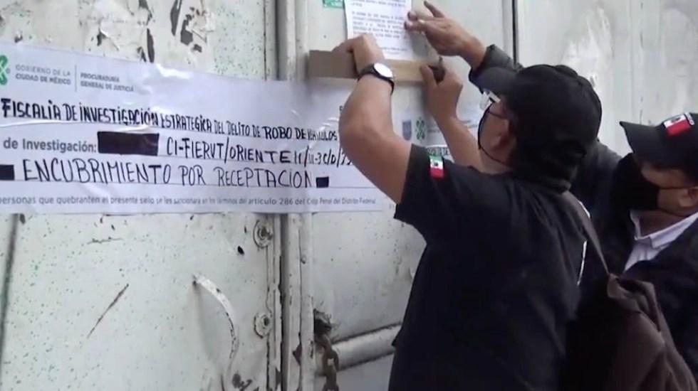 Aseguran bodegas tras decomisar vehículos relacionados con ataque a García Harfuch - Ciudad de México GAM bodegas ataque Omar García Harfuch