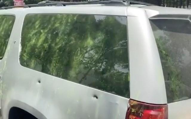 Camioneta utilizada en ataque contra García Harfuch tiene las letras CJNG - Captura de pantalla