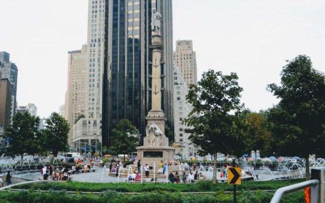 Autoridades de Nueva York cierran filas en defensa de estatua de Cristóbal Colón - Columbus Circle Cristóbal Colón estatua Nueva York