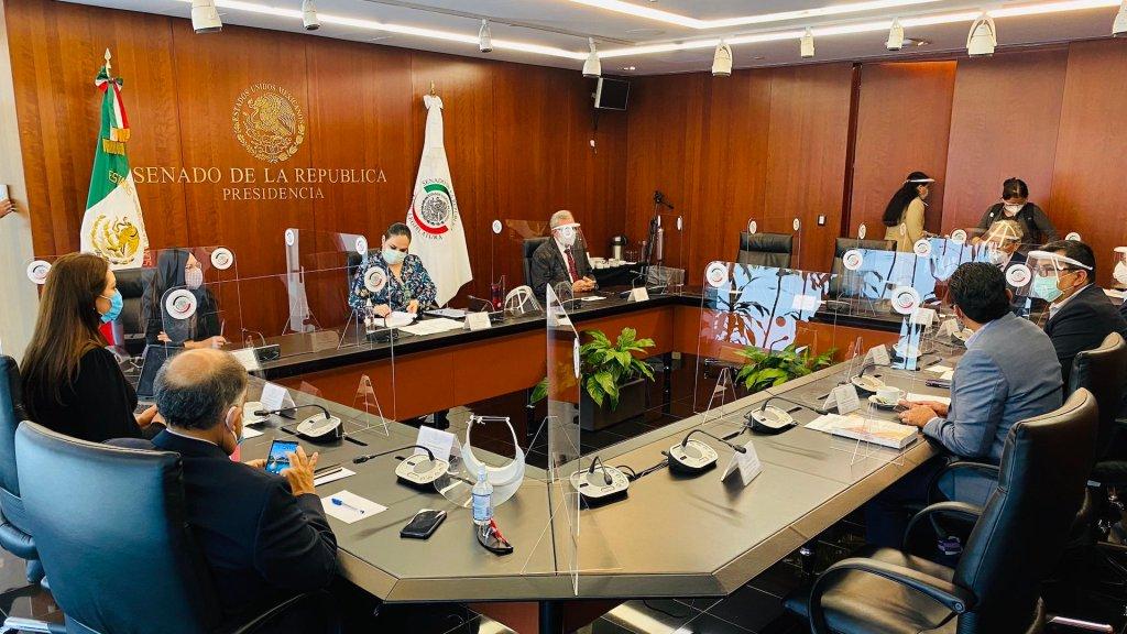 Sesiona Comisión Permanente; avalarán extraordinario para aprobar leyes del T-MEC - Comisión Permanente. Foto de @monicaferbal